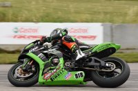 Ryan Boddy aboard the Pro-Am Motorsports Kawasaki ZX-10R Ninja at Castrol Raceway, on his way to the 2019 E.M.R.A. Argyll Expert Superbike title and 2020 number one plate. [Photo: Colin Fraser]