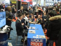 Quebec race fans are out to meet the stars of the Mopar CSBK National Series at the Liqui Moly Display at the Salon Moto de Montreal this weekend. [Photo: Colin Fraser]