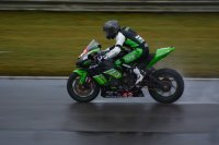 Kenny Riedmann brakes in wet MotoAmerica Superbike/Superstock action abaord his ninth-placed Sturgess Cycle/Liqui Moly Kawasaki ZX-10RR Ninja. [Photo: Colin Fraser]