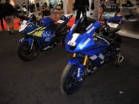 Yamaha's Booth at the Motorcycle Show-Toronto featured the just completed, Brooklin Cycle Racing built Yamaha R3 for the brand new Amateur Lightweight Sport Bike category, as well as the R6 used by Tomas Casas to earn the National Title in Liqui Moly Pro Sport Bike action in 2017. [Photo: Colin Fraser]