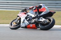 Canadian Tire Motorsport Park Mopar CSBK National hero Claudio Corti had an up-and-down MotoAmerica weekend in New Jersey, but was a star in the second Superbike race with the HSBK Aprilia RSv4. [Photo: Colin Fraser]